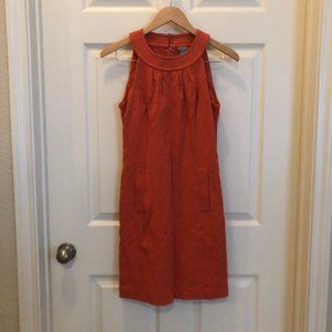 Ann Taylor Orange Sheath Dress with Pockets 2